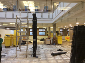 Second photo of the library with helpdesk removed from the ground floor