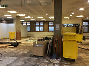 Third photo of the library with helpdesk removed from the ground floor