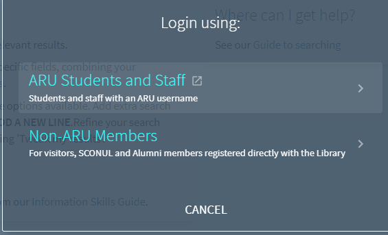 Primo Login Screenshot