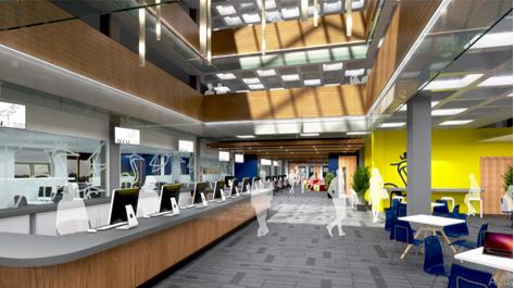 Visualisation of Queens Building Reception Area