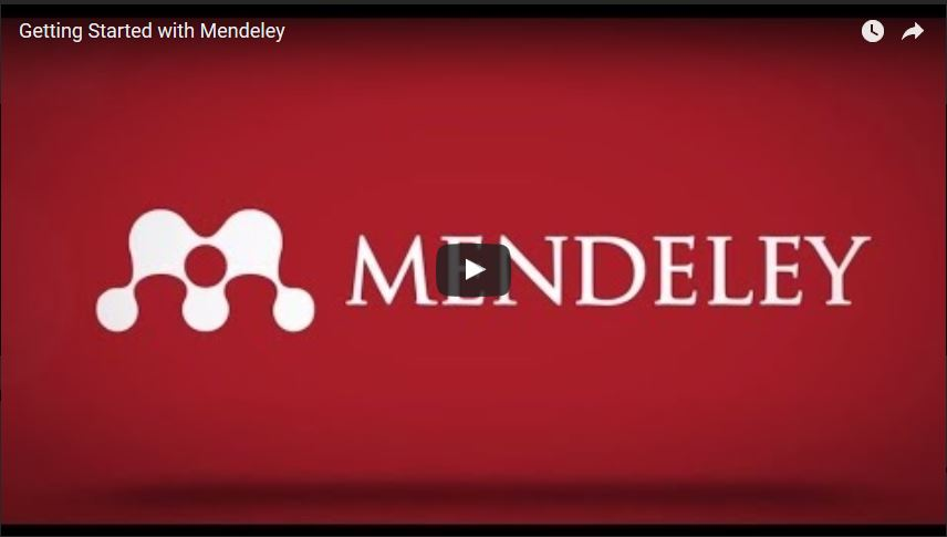 Mendeley video tutorial still