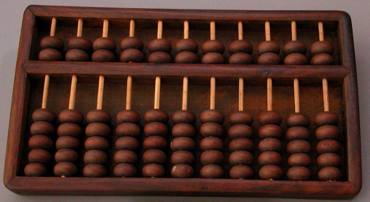 Photograph of abacus