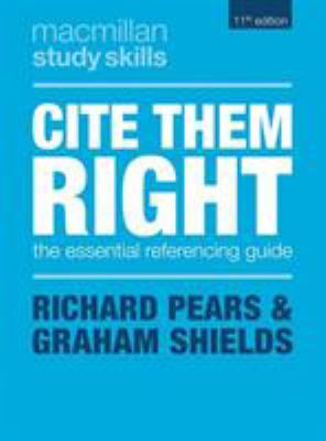 Blue cover of a book - Cite Them Right