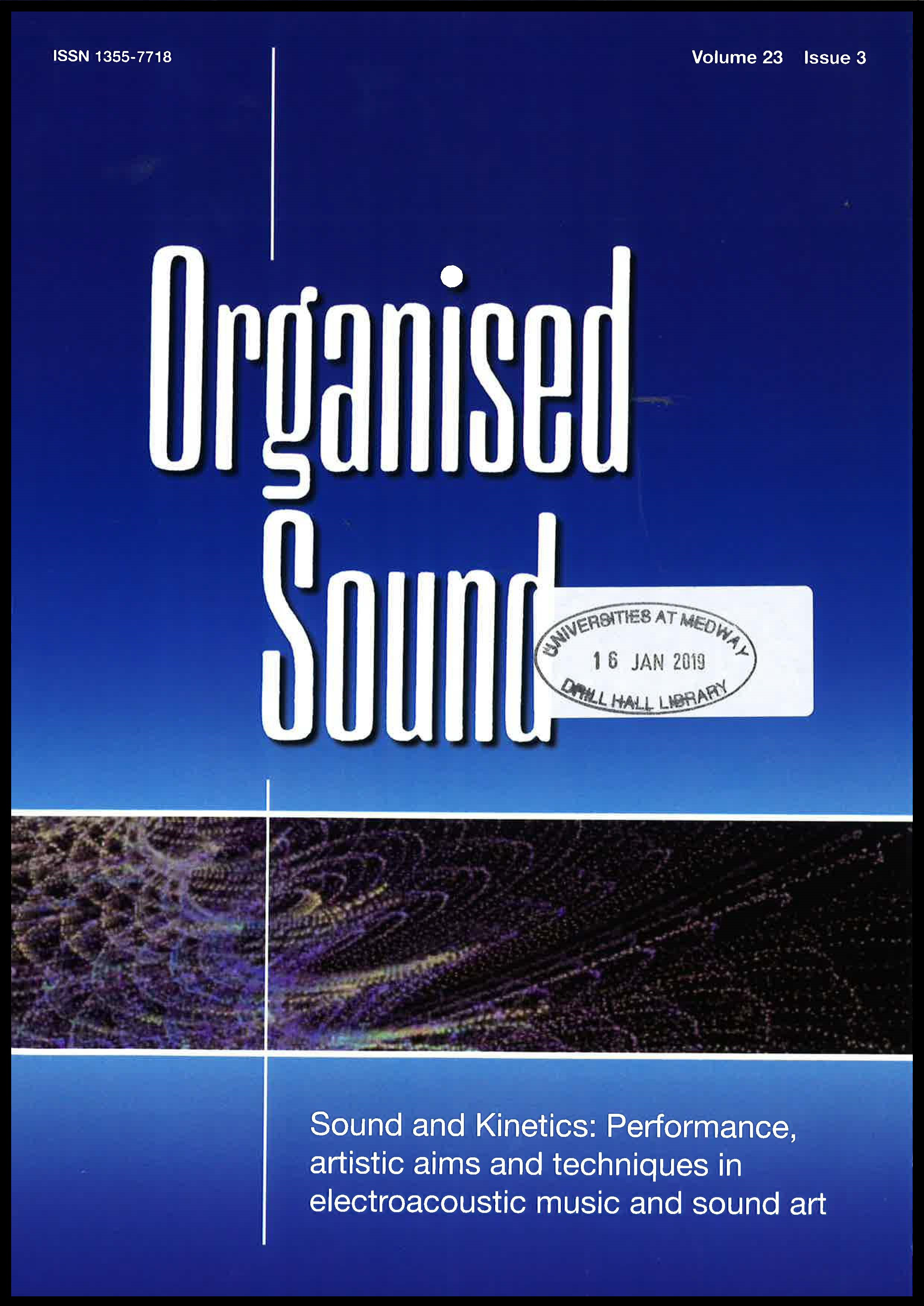 Cover of Organised Sound