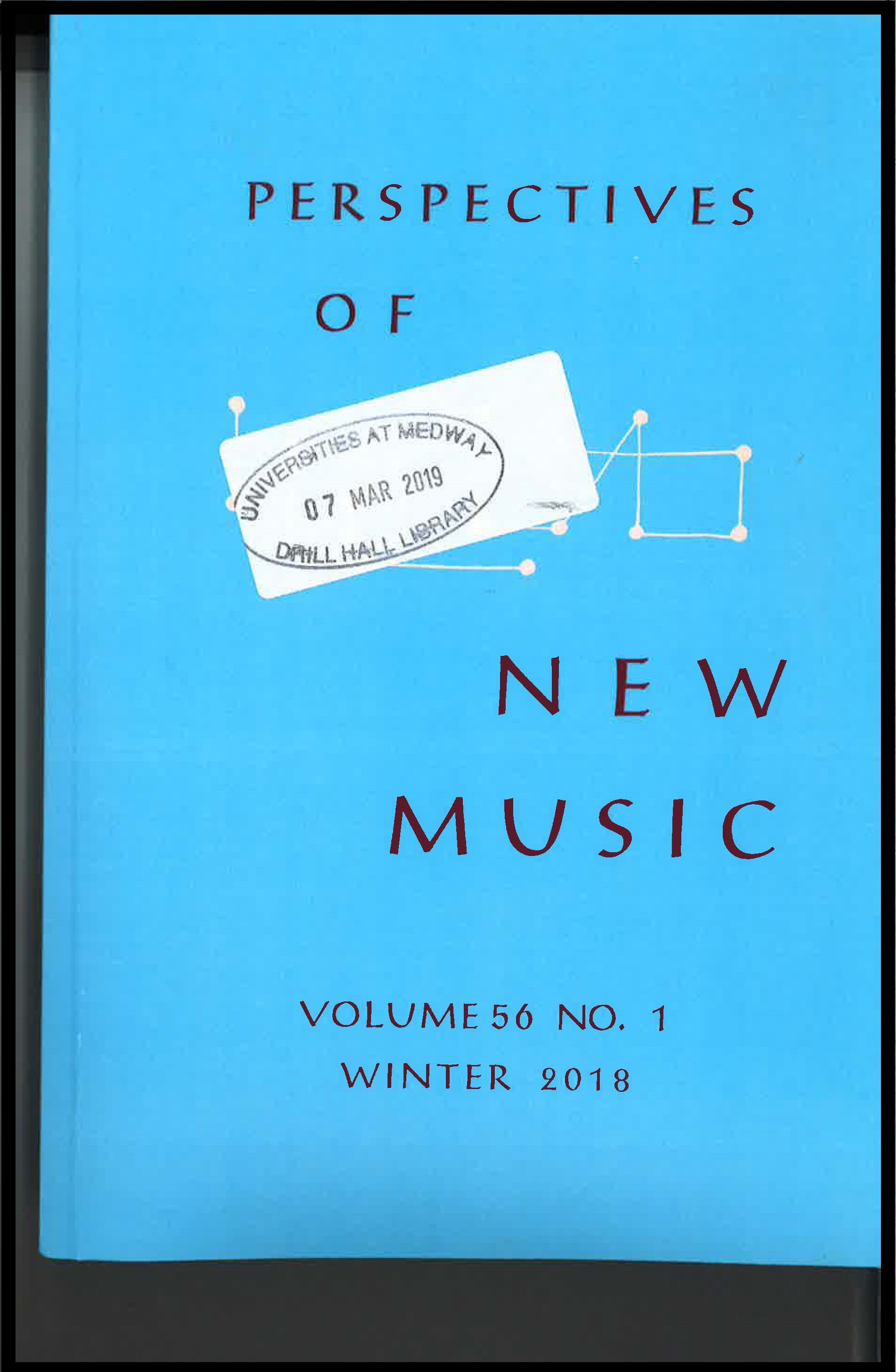Cover of Perspectives of New Music