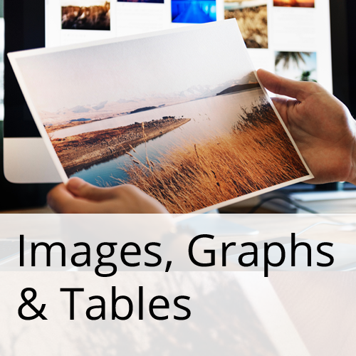 Images, Graphs and Tables