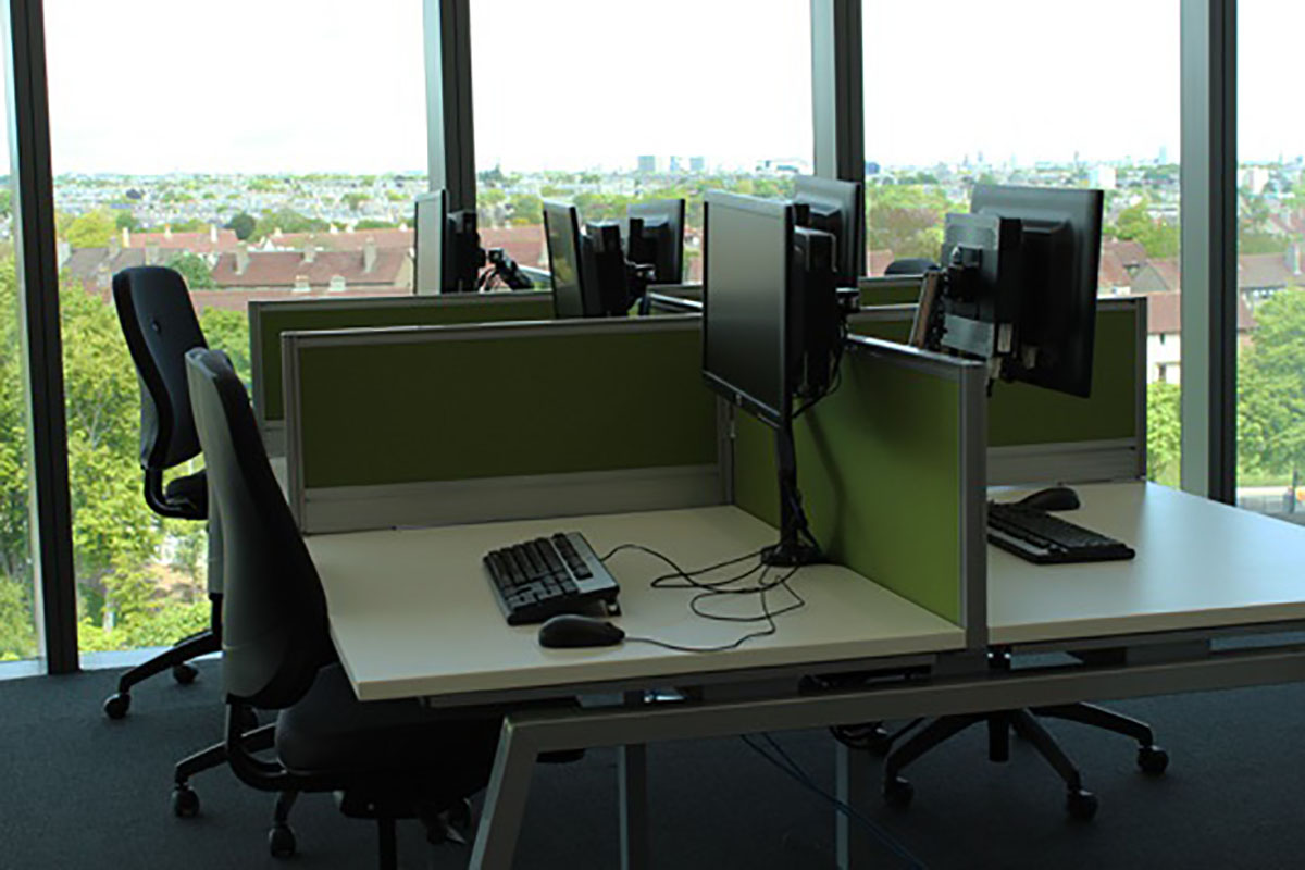 Library workstation availability
