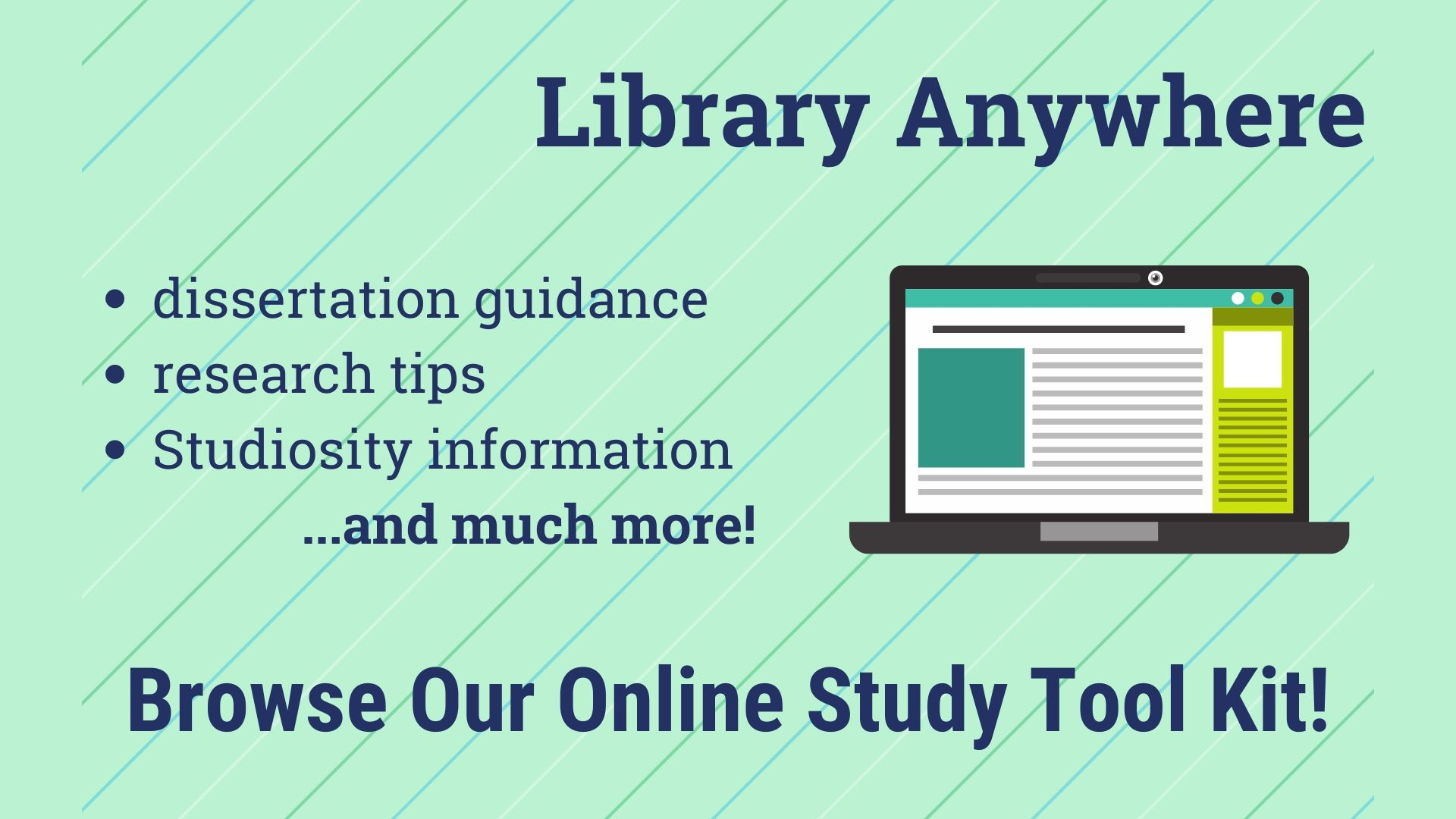 Browse our online study tool kit