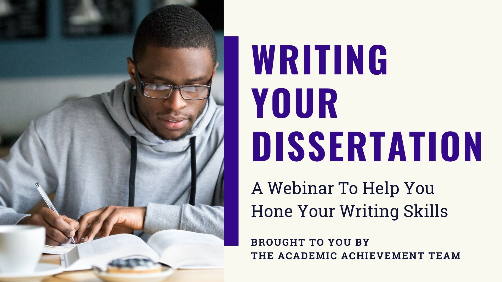 Book a place on Writing Your Dissertation Webinar