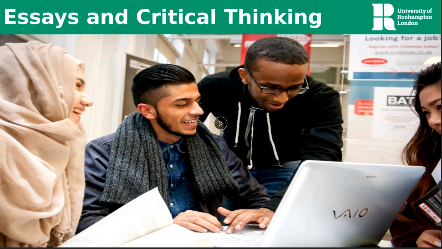 Essays and Critical Thinking
