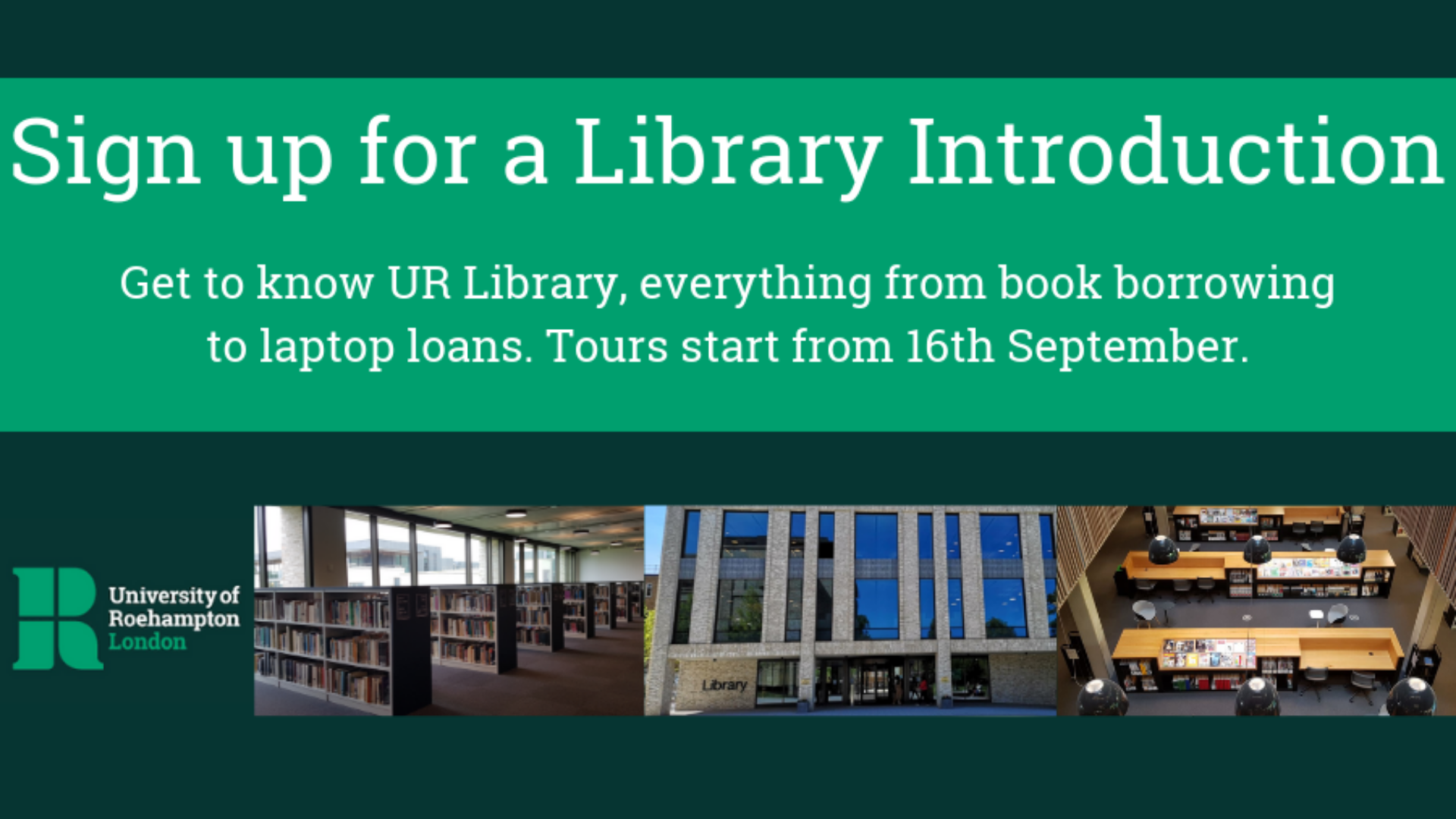 Sign up for a library induction on Eventbrite 16 Sept to 28 Oct
