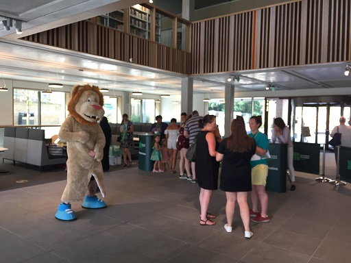 Open Day registration in the Library Foyer