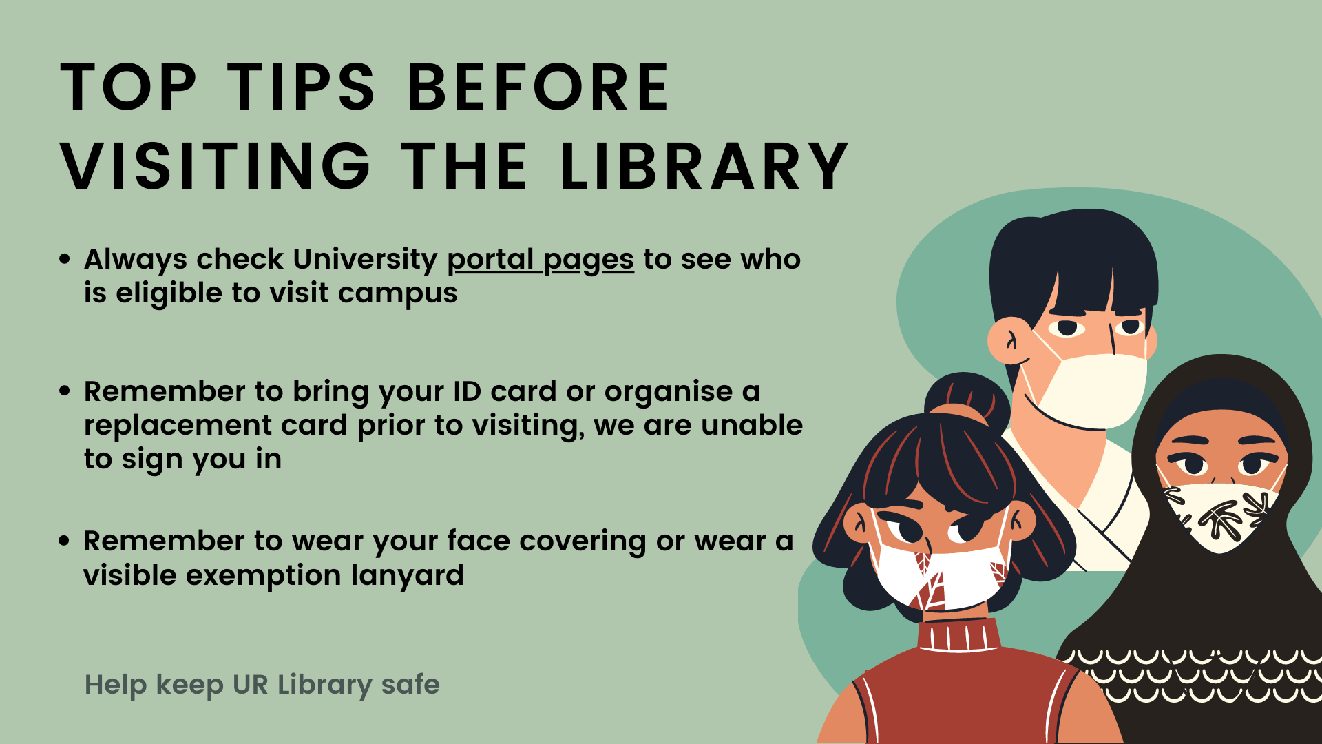 Click here for top tips before you visit the library