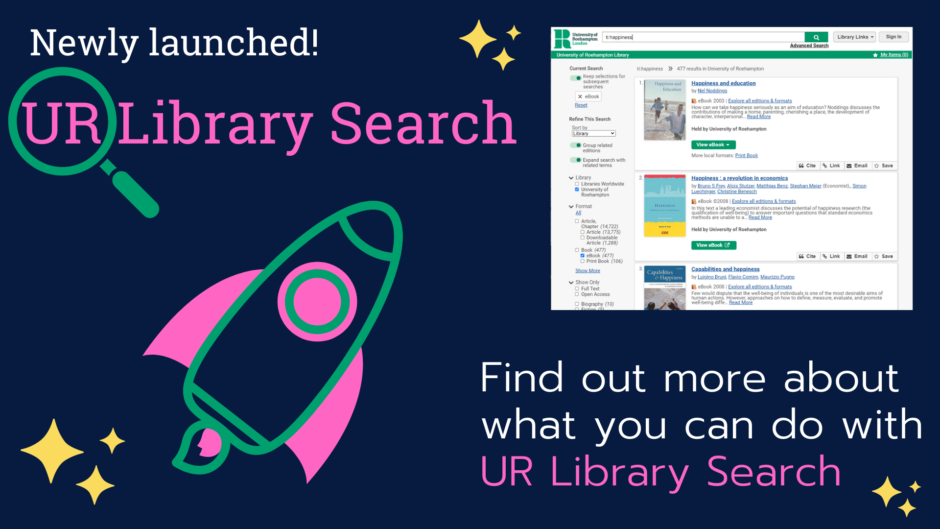 Find out what you can do with UR Library Search