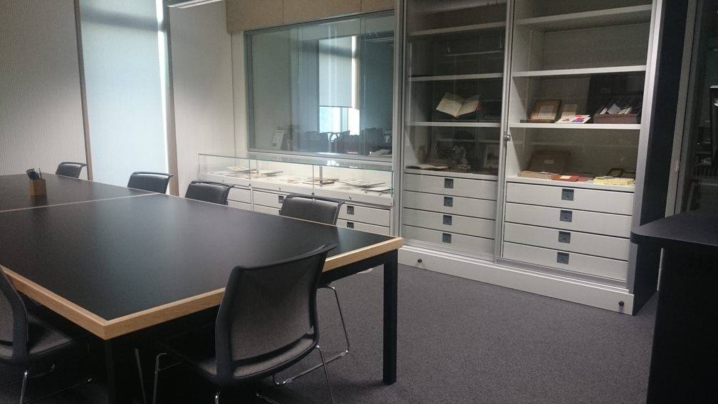 Archives consultation room with table seating 12