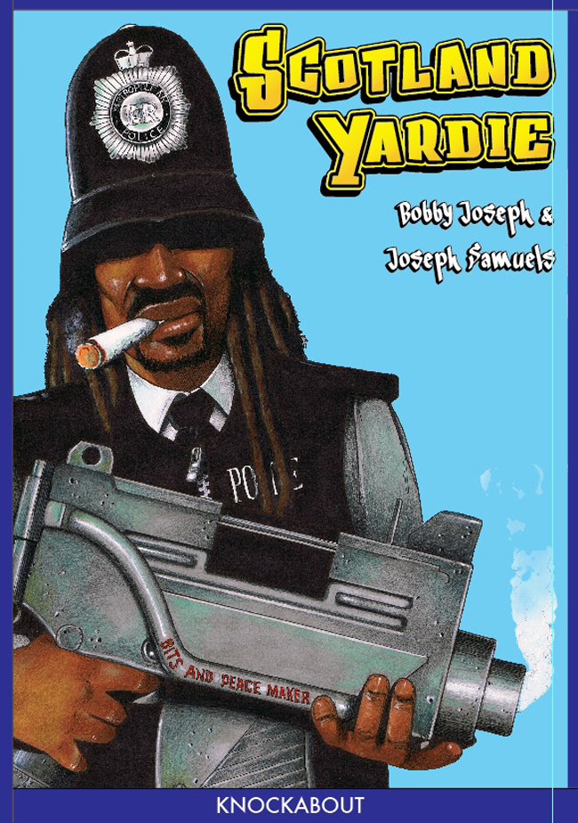 Cover of scotland yardie comic by Bobby Joseph and Joseph Samuels