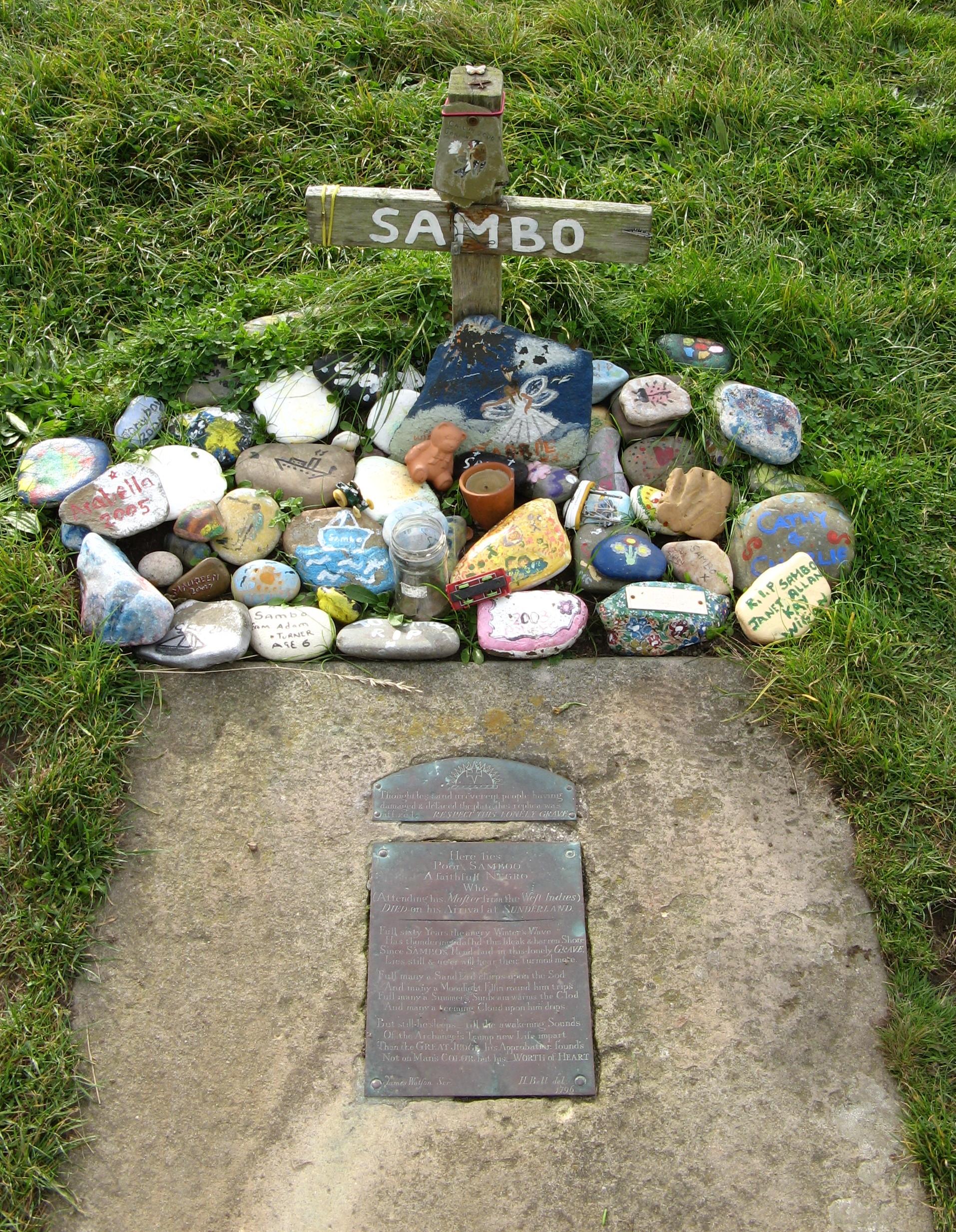 image of Sambo's grave from https://upload.wikimedia.org/wikipedia/commons/5/52/Sambo%27s_Grave.jpg