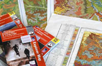 Maps on a table