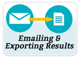 emailing and exporting results
