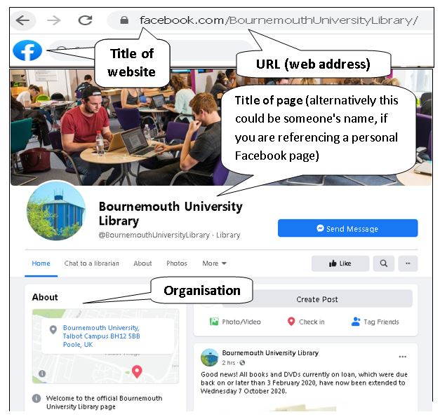 BU Library and Learning Support's Facebook page