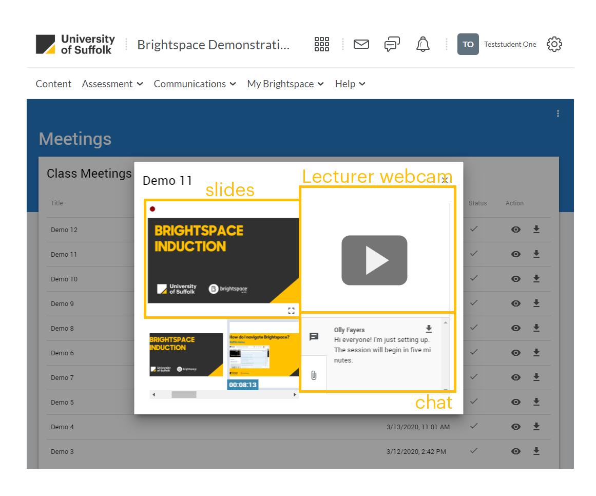previewing virtual classroom recording