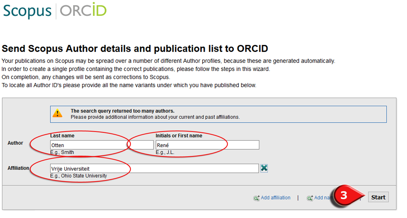 Step 3 Connect ORCiD with Scopus
