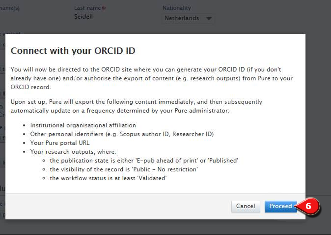 ORCID proceed