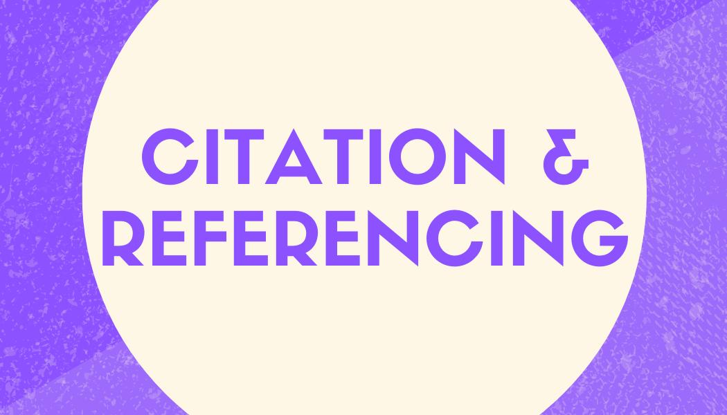 Citation & Referencing
