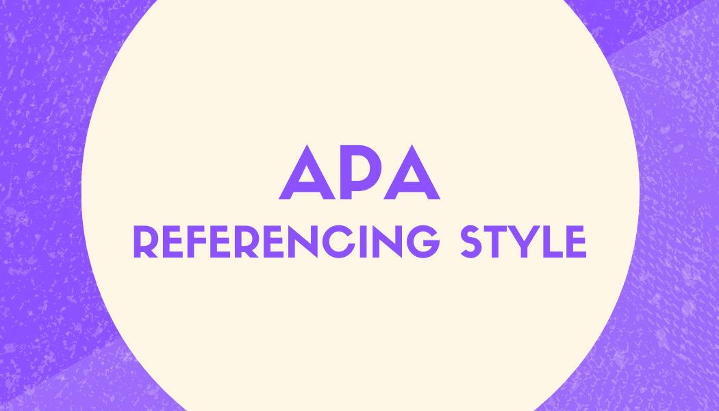 APA referencing