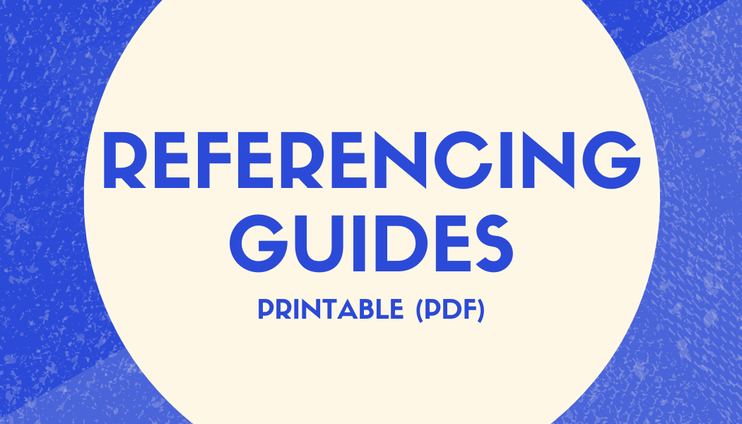 Referencing Guides