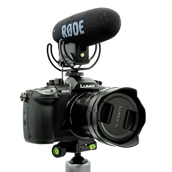 systemkamera med videomikrofon