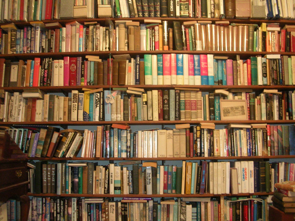 Image of packed bookshelves