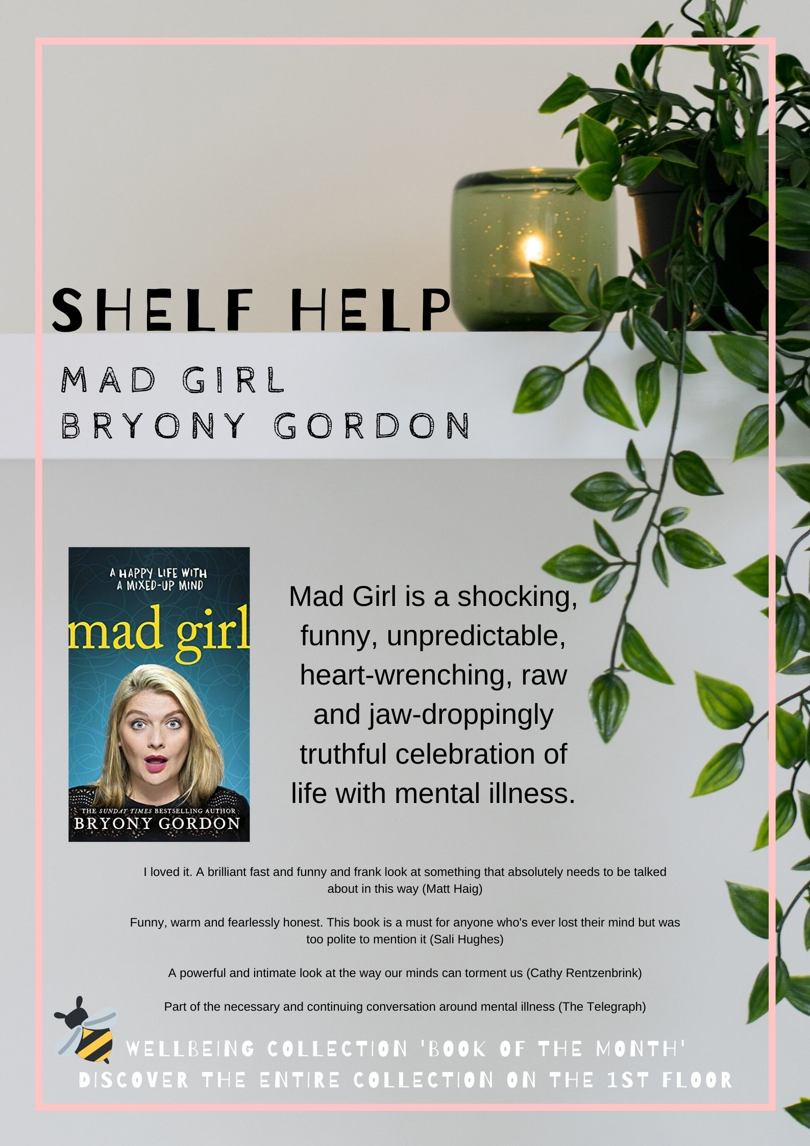 Review  and photo of book  Mad Girl by Bryony Gordon