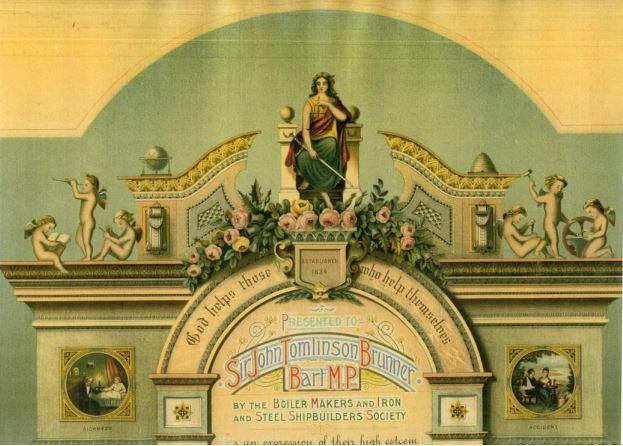 Decorative testimonial banner