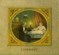 Image from testimonial showing sickness illustration