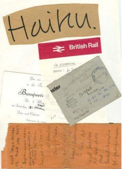 Haiku folder showing train tickets