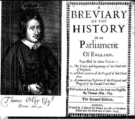 Image of frontispiece and title page of the History of Parliament