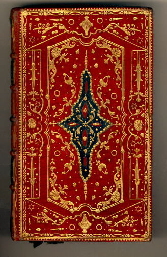 front cover showing ornate binding and gilt tooling