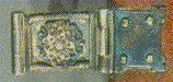 Detail of binding clasp on book of hours