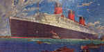 Detail of jigsaw of Cunard ship
