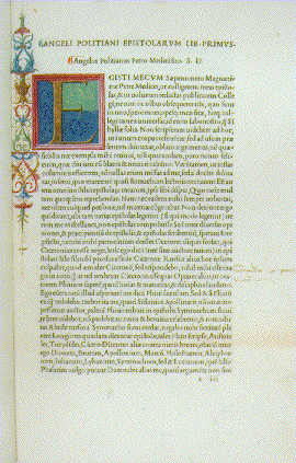 Image of page from Angelo Ambrogini Poliziano. Omnia opera.