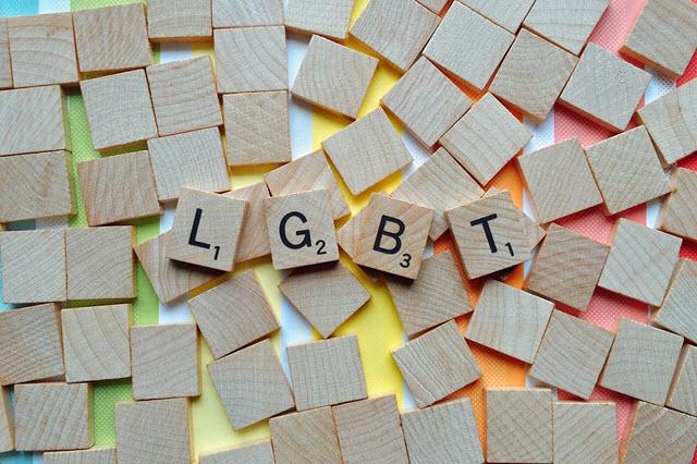 LGBT spelled in wooden scrabble pieces