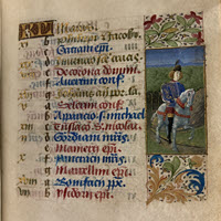 Detail of MS.F.2.22: Book of Hours (use of Rome)