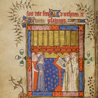 Detail of MS.F.3.14: Book of Hours (use of Sarum)