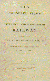 Title page of Coloured views of the Liverpool and Manchester Railway.