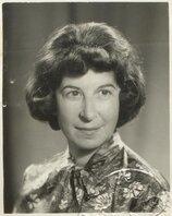 Passport photograph of Miriam Allot