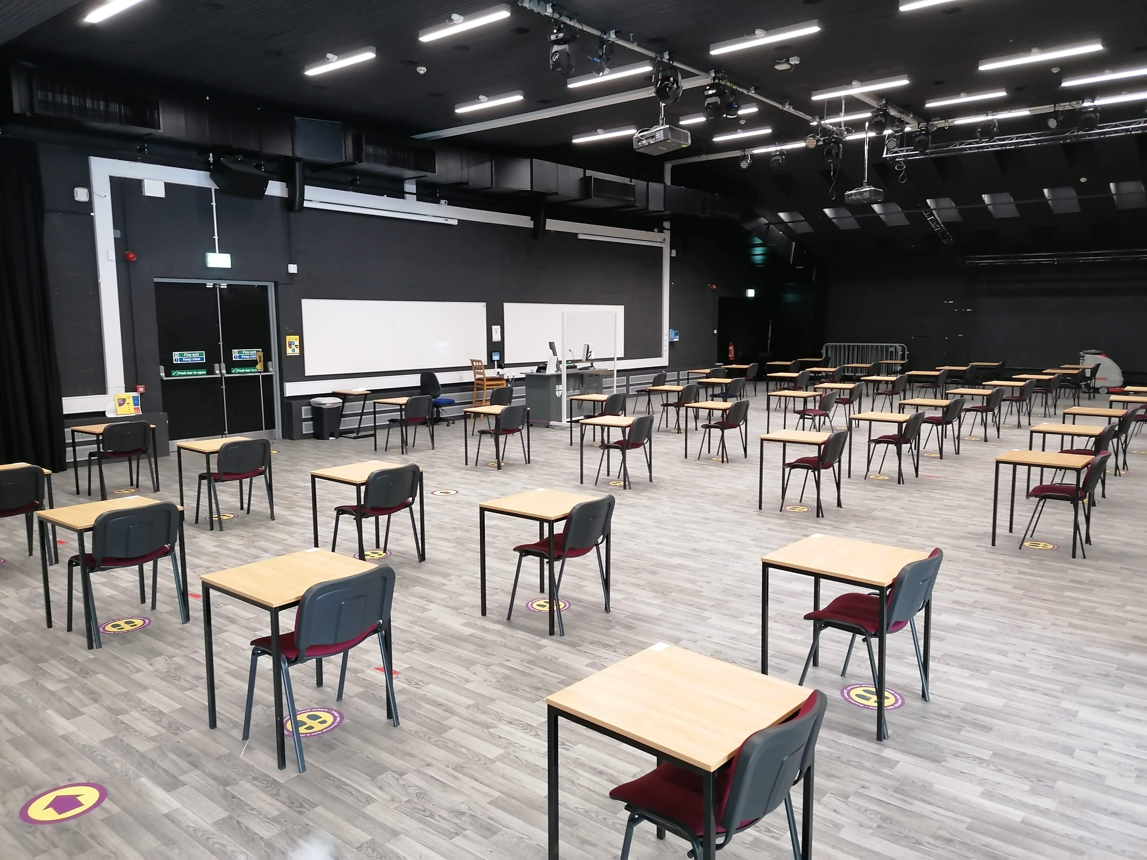 Study spaces in the Fonteyn Ballroom in DSU