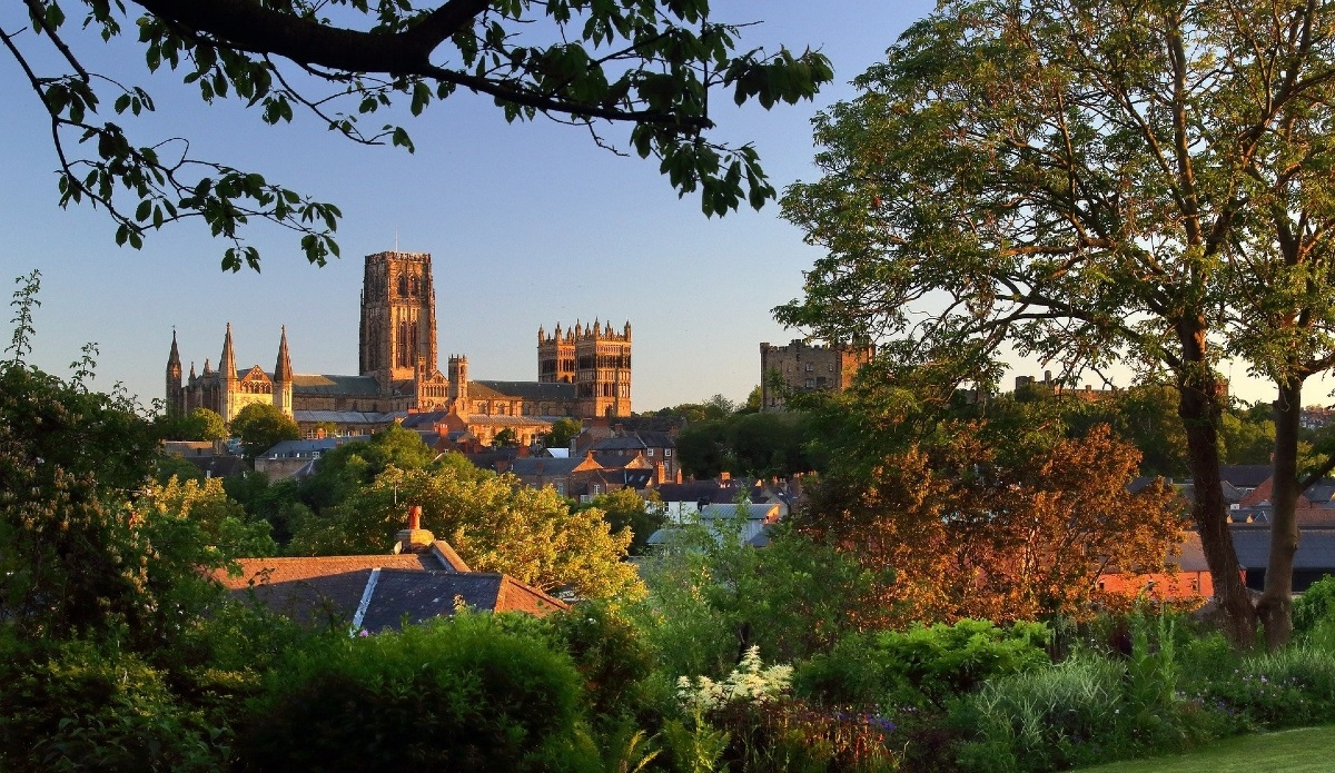 View across Durham city towards Durham Cathedral