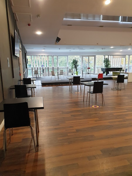 Study spaces in the Riverside Cafe area in DSU