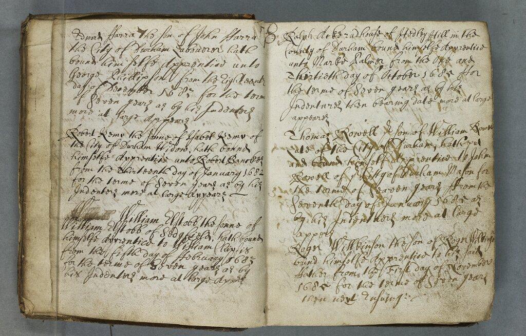 Durham City Guild of Masons apprentice register 1682-1961